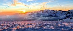 Winter lansdscape by byrdyak on @creativemarket