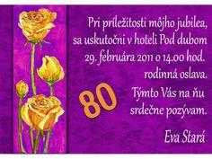 Pozvánka na oslavu jubilea - JU019