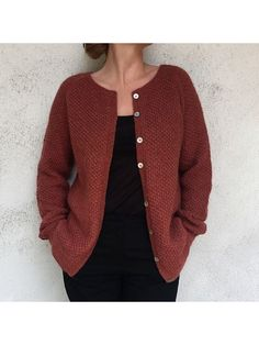 Ravelry: Yo Over Cardigan Adult pattern by PixenDk Sweater Knitting Patterns, Cardigan Pattern, Knit Cardigan, Cardigan Sweaters For Women, Knit Fashion, Knitwear, Ravelry, Casual, Clothes