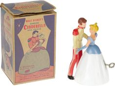 Vintage Disney Cinderella Wind-up Toy with Box. Based on Walt Disney's beloved 1950 feature-length animated - Available at 2006 June Political Memorabilia. Disney Dolls, Walt Disney, Cinderella Prince, Disney Princess, Anastasia And Drizella, Handsome Prince, Fairy Godmother, Old Dolls, Vintage Disney