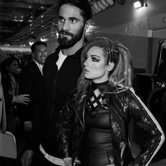 """WWE Superstars Seth Rollins (Colby Lopez) with his girlfriend """"The Man"""" Becky Lynch (Rebecca Quin) preparing backstage at a WWE live event. Wwe Seth Rollins, Seth Freakin Rollins, Becky Lynch, Seth Rollins Girlfriend, Wwe Pictures, Wwe Photos, Becky Wwe, Wwe Live Events, Wwe Couples"""