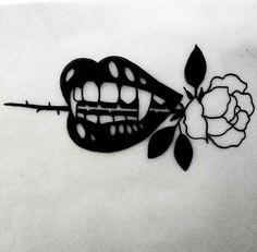 Make-up: black floral flowers vampire halloween tattoo roses temporary tattoo ha. - Make-up: black floral flowers vampire halloween tattoo roses temporary tattoo halloween makeup - Future Tattoos, New Tattoos, Body Art Tattoos, Tattoo Drawings, I Tattoo, Tattoo Roses, Tatoos, Tattoo Music, Tattoos Of Lips