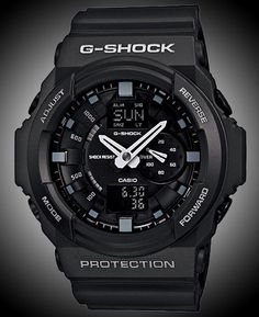 Want to make a statement? Show up with this 55 Millimeter beast. Keep it sleek with a black finish, G-Shock never disappoints.