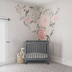 Floral Nursery Wall Mural – The Wandering Creek