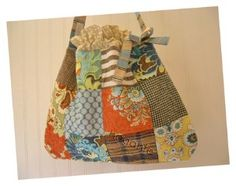 Quilted patchwork bag.