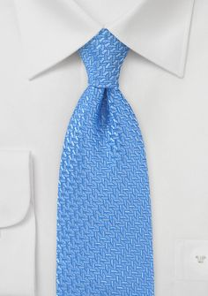 Designer Tie in French Blue - Showcase your innate love of style and simplicity in menswear fashion this season with this designer Art Deco inspired necktie in a fabulous shad Designer Ties, French Blue, Blue Bow, Art Deco, Menswear, Bows, Mens Fashion, Shirt, Inspiration