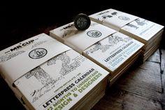 Letterpress calendar 2012