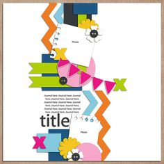 Quality DigiScrap Freebies: Template freebie from Little Green Frog Designs