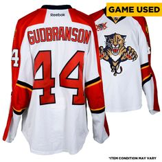 Erik Gudbranson Florida Panthers Fanatics Authentic Game-Used  44 White  Jersey from the 2013-14 NHL Season - Size 58 350217e2f