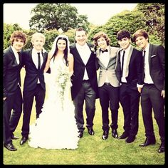 Paul's wedding. How great do they all look!? Hottttt stuff