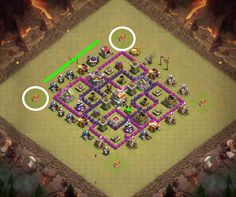 Tactic Attack dragons to th7 Clash of Clans
