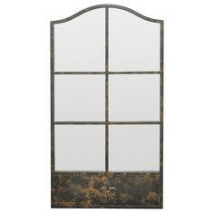 Three Hands Metal Cathedral Mirror With Mullion