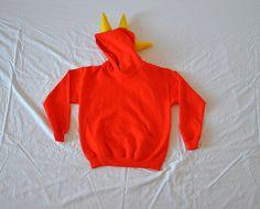 Orange Dino Hoodie  Youth Medium by thesistersoberth on Etsy, $40.00