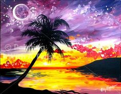 New Art! Sunset Over Paradise ($35) - Colorado Springs, CO Painting Class - Painting with a Twist