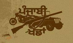 This for Punjabi.... with love .... Bullet Jeep Donali Khedan Punjabia Diyan.... Royal Enfield,, Willys, rifle...