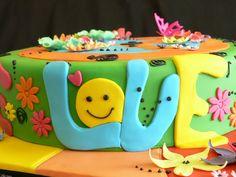 Birthday cake ideas for adults flowers dessert tables 27 best ideas Birthday Cake Kids Boys, Birthday Themes For Adults, Adult Party Themes, Birthday Cards For Her, Birthday Crafts, Birthday Cupcakes, Birthday Fun, Birthday Ideas, Hippie Cake