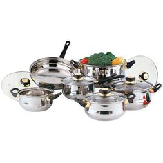 12 Piece Stainless Steel Saucepans Cookware Cooking Pots Pan Set With Lids UK Electric Cooker, Gas And Electric, Portsmouth, Pots And Pans Sets, Copper Pans, Cooking Utensils Set, Cook Up A Storm, Pan Set