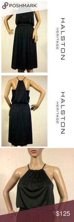 Halston Heritage Shirred Halter Dress NWT Size 8 amaze balls Dress! Details forthcoming Halston Heritage Dresses