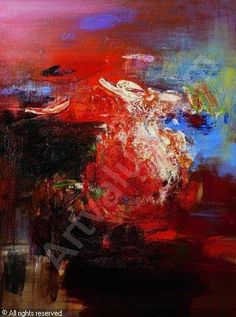 Wang Yan Cheng, Sans titre, huile sur toile. Foto tomada de ArtValue