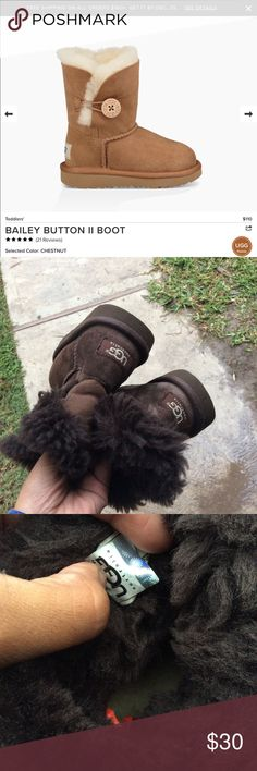 🍫 chocolate 🍫 toddler UGGS Very good condition. Normal wear by a toddler UGG Shoes Rain & Snow Boots