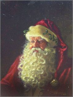 Dean Morrissey - Portrait of Father Christmas Christmas Scenes, Father Christmas, Vintage Christmas Cards, Santa Christmas, Christmas Pictures, Winter Christmas, Christmas Holidays, Xmas, Papa Noel
