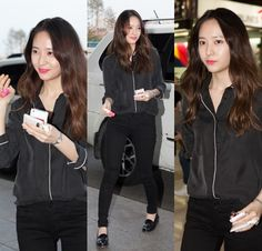 AllAboutKPOP: TOP 10 Best Airport Fashion Female Edition Chic Outfits, Spring Outfits, Krystal Jung Fashion, Krystal Fx, Fashion Line, Fashion 2014, Airport Style, Airport Fashion, Going Out Outfits