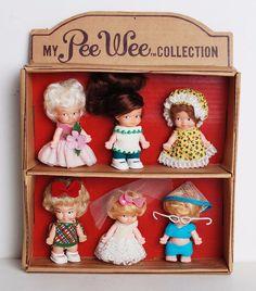 Vintage Lot of 6 Uneeda Pee Wee Dolls in Original Collection Box | eBay