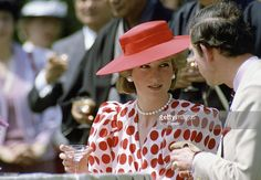 Princess Diana And Prince Charles Drinking Rice Wine In Japan