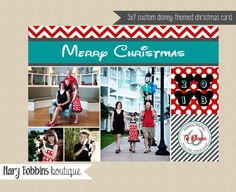 custom disney photo christmas card printable