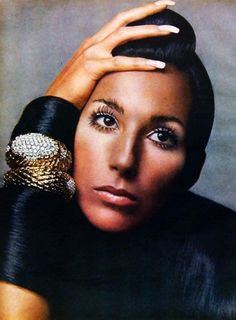 Cher photographed by Richard Avedon, 1969.