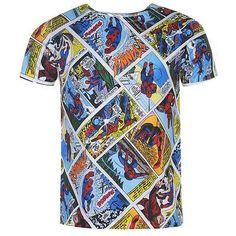 Mens Marvel Comics Spiderman Comic Book Printed T Shirt £12.99 #spiderman #dccomics