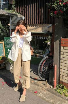 MOCOBLING - Single-Breasted Linen Jacket #koreanfashion #koreanstyle #jacket
