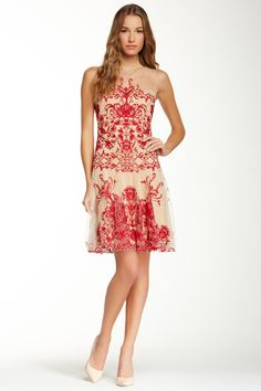 Marchesa Notte Embroidered Dress | Love.Love
