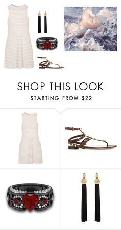 """Untitled #14417"" by jayda365 ❤ liked on Polyvore featuring Topshop, Valentino and Yves Saint Laurent"
