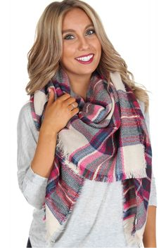 Woven Plaid Scarf Pink ($14.99) #basic #essential #fall #pumpkin #spice #fallfashion #ootd #ootdinspo #inspiration #outfit #affordable #boutique #professional #casual #preppy #boho #trendy #cute #shirt #dress #skirt #scarf #homecoming #social #prom #formal #sorority #rush #recruitment #sophieandtrey #weshipfree