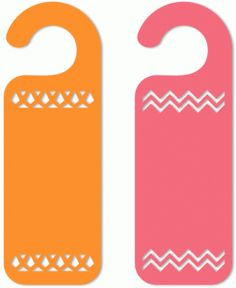 Silhouette Online Store - View Design #42415: 2 cut out decorative door hangers