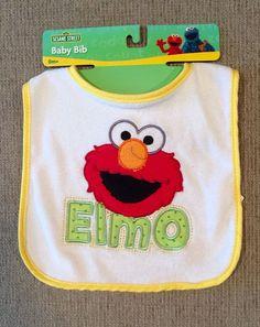 ELMO Sesame Street Yellow Baby Bib NEW #SesameStreet