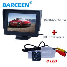 "In-Dash lcd screen 4.3"" car parking monitor with for original car rearview camera 8 led use for  Chevrolet Cruze hatchback"