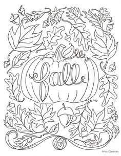 4 Fall Coloring Pages Preschool Pinterest