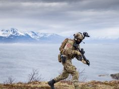 Members with the Norwegian Coastal Ranger Command out on exercise. 13 May, 2016.