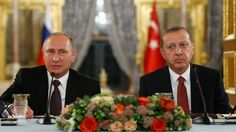 10-10-2016  The Russian and Turkish leaders agree to intensify military and intelligence contacts after ministers sign a gas pipeline deal in Istanbul.