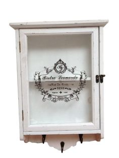 Country Chic Medicine Cabinet With Hooks Shabby Chic Distressed Wood – Home of Temptations Interior Design Furniture, Decor & Gifts Shabby Chic Armchair, Shabby Chic Mirror, Shabby Chic Pillows, Shabby Chic Homes, Shabby Chic Style, Shabby Chic Furniture, Shabby Chic Decor, Painted Bedroom Furniture, Home Furniture
