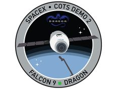 The mission patch for the first SPACE-X mission to the ISS.