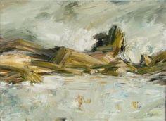 Turbulence at Logan Rock, oil on canvas, Ann Armitage