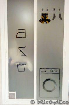 Vinilo translucido para la puerta del lavadero o la cocina for Puerta lavadero