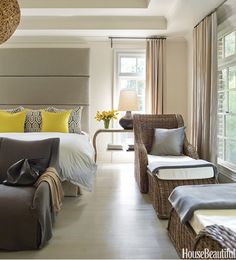 Serene Yellow by Kay Douglas via House Beautiful