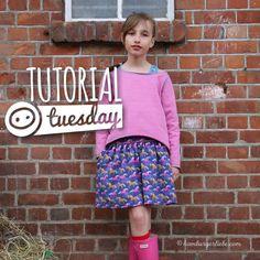Tutorial für ein Sommerröckchen für groß und klein! - rokje in jersey met elastische taille, paspel en zakken