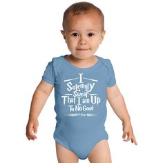 Harry Potter I Solemnly Swear I Am Up To No Good Baby Onesies