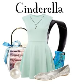 """""""Cinderella"""" by agust20 ❤ liked on Polyvore featuring Helen Rochfort, Disney, Givenchy, John Zack, Call it SPRING, Disney Couture, glass slipper, disney bound, disney princess and princess"""