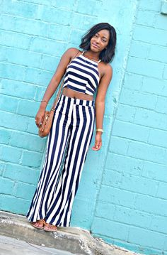 Striped top & Striped pants  heyciara.com